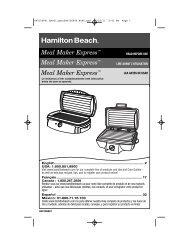 Print Specs - Hamilton Beach