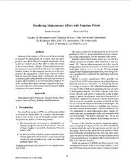 Predicting Maintenance Effort with Function Points - Software ...