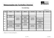 Belegungsplan der Turnhallen (Vereine)