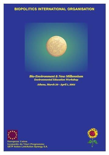 BIOPOLITICS INTERNATIONAL ORGANISATION - Hol.gr