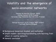 The rise and fall of a networked society - ICTP