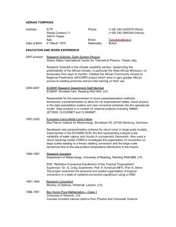 Fred Kucharskis CV