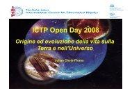 Origini ed evoluzione della vita sulla Terra e nell'universo - ICTP