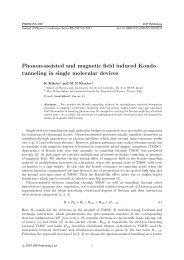 Phonon-assisted and magnetic field induced Kondo ... - ICTP