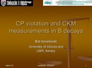 Standard Model and CPV: the CKM Unitary Triangle Angles ... - ICTP