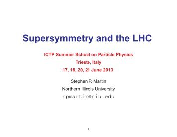 lectures - ICTP