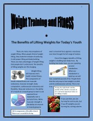 The Benefits of Lifting Weights for Today's Youth pdf - Rowan