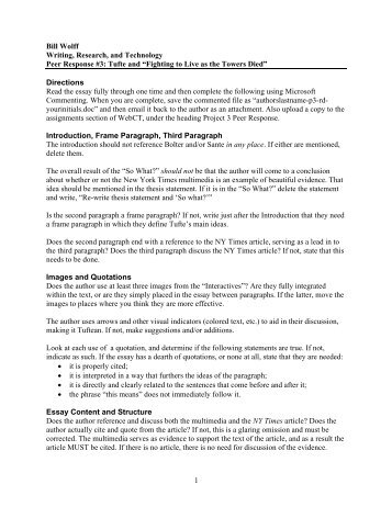 peer response essay How have local instructors depicted peer review in peer follow questions up with instruction that require a more elaborated response (ie, is the essay well.