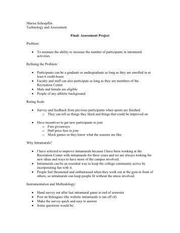 Assessment Project - Rowan - Rowan University