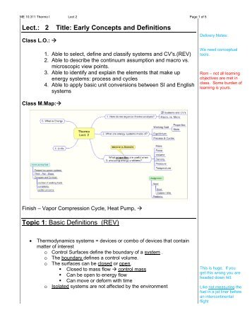 Lect.: 2 Title: Early Concepts and Definitions Topic 1: Basic ... - Rowan