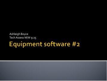 Equipment/Software 2 (PDF) - Rowan