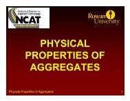 PHYSICAL PROPERTIES OF AGGREGATES - Rowan