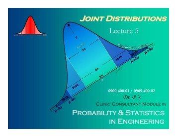 Joint Distributions - Rowan - Rowan University
