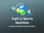 Topic 3: Sports Nutrition - Rowan