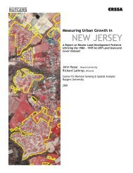 Report on Measuring Urban Growth in New Jersey - Rowan ...