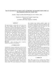 MULTI-SENSOR DATA FUSION USING GEOMETRIC ...