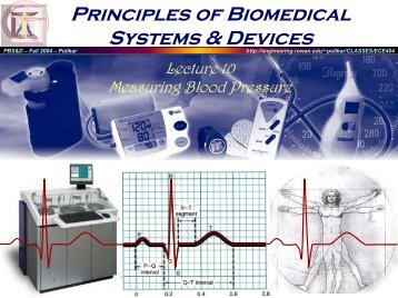 Principles of Biomedical Systems & Devices Principles of ... - Rowan