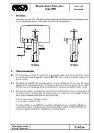 Temperature Controller Type 910 910-Bve - ARCA Regler Gmbh