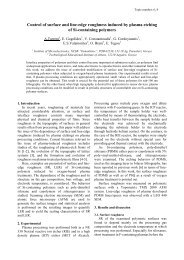 Control of surface and line-edge roughness induced by plasma ...
