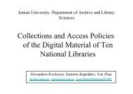 Collections and Access Policies of the Digital Material of Ten ...