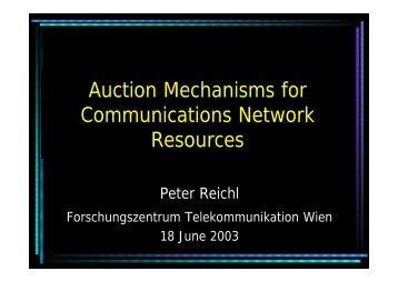 Slides - FTW User Server - Forschungszentrum Telekommunikation ...