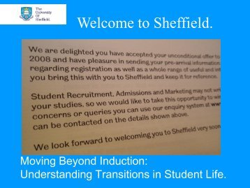 Welcome to Sheffield.