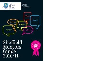 Sheffield Mentors Guide 2010/11. - MUSE - University of Sheffield