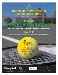 Conference brochure - USPTA divisions - United States Professional ...