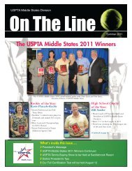 The USPTA Middle States 2011 Winners - USPTA divisions