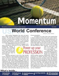 World Conference - USPTA divisions - United States Professional ...