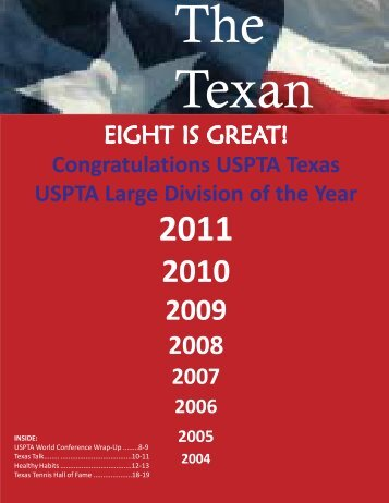 The Texan - 2009 Summer Newsletter - USPTA divisions - United ...