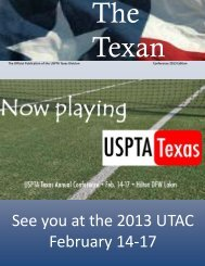 The Texan - USPTA divisions - United States Professional Tennis ...