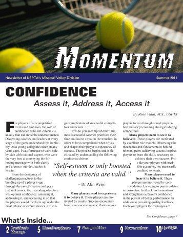 confidence - USPTA divisions - United States Professional Tennis ...
