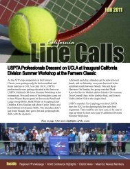 California - USPTA divisions - United States Professional Tennis ...