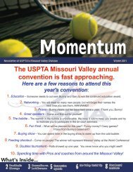 2 3 6 The USPTA Missouri Valley annual convention is fast ...