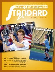 Where Excellence is STANDARD - USPTA divisions - United States ...