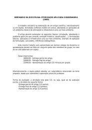 SEMINÁRIO DA DISCIPLINA: OTIMIZAÇÃO APLICADA À ...