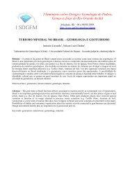 turismo mineral no brasil – gemologia e geoturismo - Universidade ...