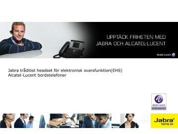 Alcatel-Lucent bordstelefoner - Jabra