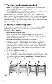 O2 blue Bluetooth wireless headset User manual - Jabra - Page 7
