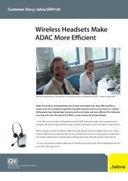 Jabra GN9120 Wireless Headsets Make ADAC More Efficient
