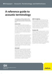 A reference guide to acoustic terminology