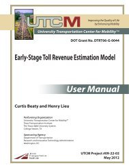 Early-Stage Toll Revenue Estimation Model: A User's Guide