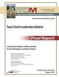 Linda Cherrington, Jeffrey - University Transportation Center for ...
