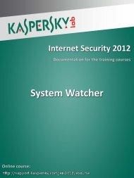 System Watcher - Kaspersky Lab