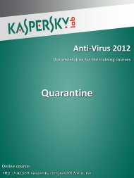 Quarantine - Kaspersky Lab