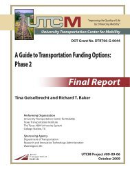 A Guide to Transportation Funding Options: Phase 2 - University ...