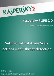 actions upon threat detection - Kaspersky Lab