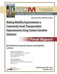 Final Report - UTCM - Texas A&M University