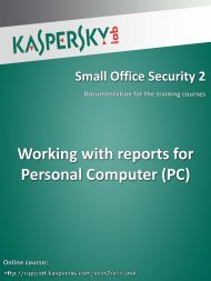 Working with reports for Personal Computer (PC)